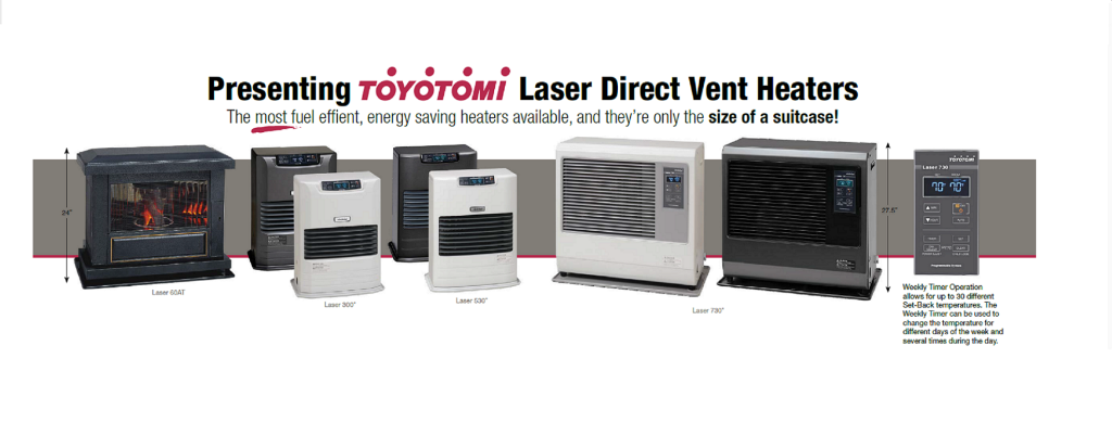 Toyotomi Laser Direct Vent Heaters